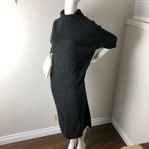 COS Dresses - COS XS Charcoal Grey Cocoon Midi Dress Minimal